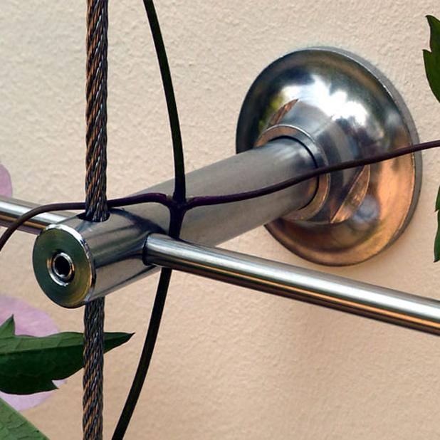 rankhilfe fassadenbegr nung edelstahl wandhalter und. Black Bedroom Furniture Sets. Home Design Ideas